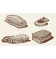 bakery set vector image vector image