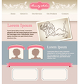 Retro feminine template for web site vector image vector image