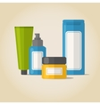 Cosmetic bottles set in flat style vector image vector image