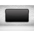 Black Frame on Brick Wall vector image