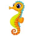 Cute seahorse cartoon vector image