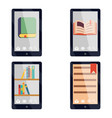 e-book reader e-reader flat icons and symbols set vector image