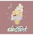 fantastic cakes with dessert menu vector image