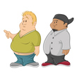 fat guys vector image