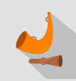 hunting horn duck whistle hunt season flat and vector image