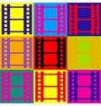 Reel of film sign vector image