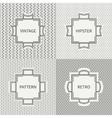 Set of hand drawn line ink geometric seamless vector image