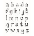 Sketch alphabet small letters vector image