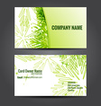 stylish green business template vector image