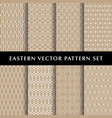 eastern hexagon pattern pack vector image