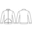 Blank sweatshirt template vector image