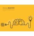 Creative brainstorm concept vector image