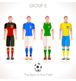 EURO 2016 GROUP E Championship vector image