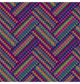 Multicolored Seamless Funny Knitted Pattern vector image vector image