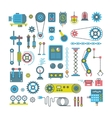 parts of mechanism and robots flat icons vector image vector image