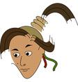 Cartoon girl character vector image