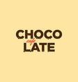 chocolate cafe logo vector image
