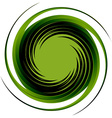 Green round shape vector image