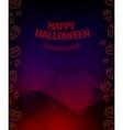 Halloween background horror vector image