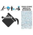 Paint Bucket Icon with 1000 Medical Business vector image