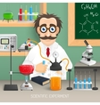 Scientist In Chemistry Lab vector image