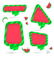 watermelon summer bubble speech vector image