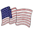 doodle flag usa america vector image vector image