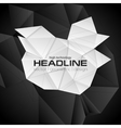 Black and white 3d polygonal shapes vector image