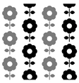 Floral seamless pattern - black and white vector image
