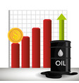 oil prices infographics icon vector image