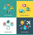 insurance flat background concepts vector image