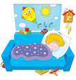 Child sleeping vector image vector image