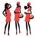 Fashionable pregnancy and maternity characters vector image vector image