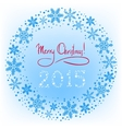 Winter Christmas wreath background with snowflakes vector image vector image