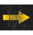 yellow arrow vector image vector image