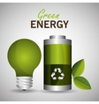 green energy design vector image