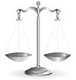 metal balance vector image vector image