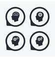 Head with brain icon Male human symbols vector image