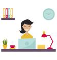girl in office vector image