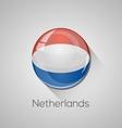 European flags set - Netherlands vector image