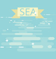 flat sea pattern modern simple background vector image