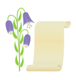 Flower and scroll vector image