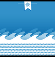 Marine background with sea wave and ropes vector image