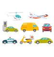 transportation vehicles set vector image