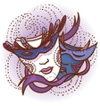 Two carnival masks vector image