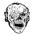 Zombie Skull Face Monster vector image
