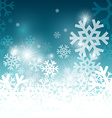 Snowflakes on Blue Background Christmas Pattern vector image
