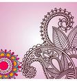 Henna doodle floral pattern vector image vector image