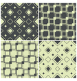 seamless patterns with squares vector image vector image