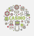 colorful casino vector image